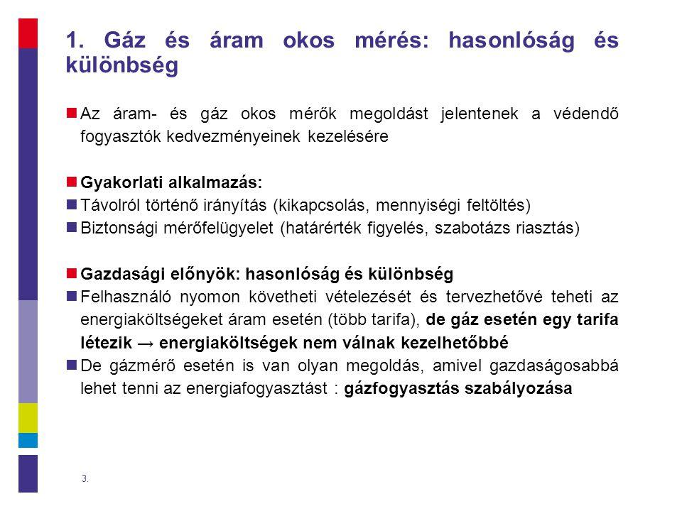 1. Gáz és áram okos mérés: hasonlóság és különbség