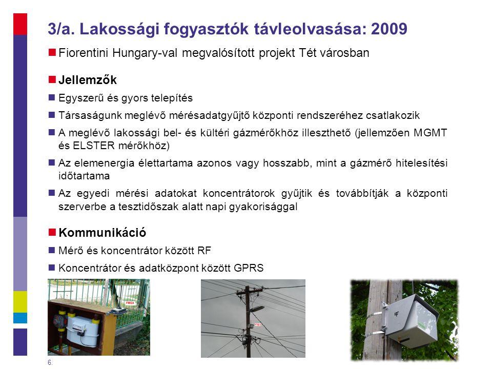 3/a. Lakossági fogyasztók távleolvasása: 2009