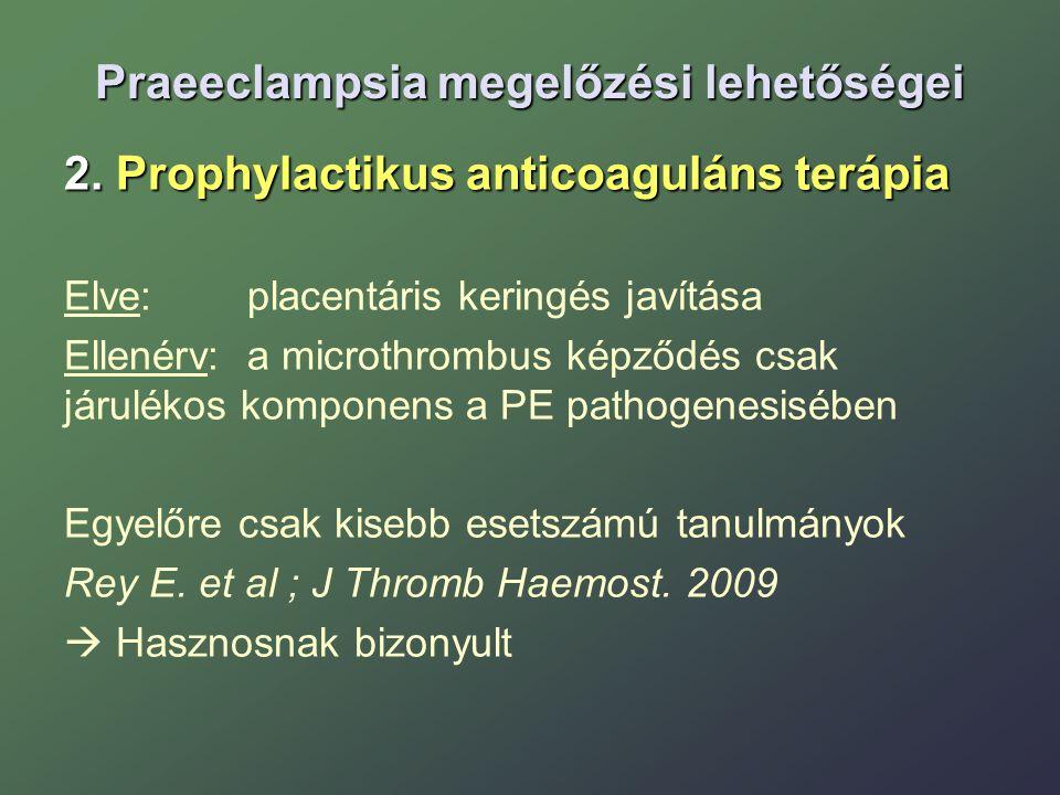 Praeeclampsia megelőzési lehetőségei