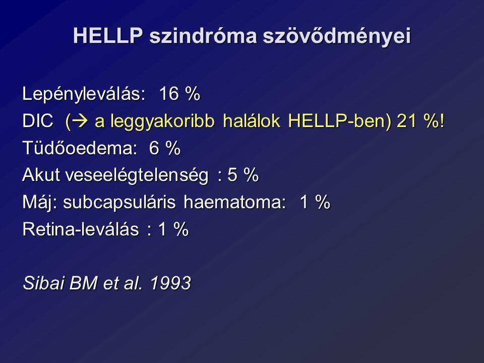 HELLP szindróma szövődményei