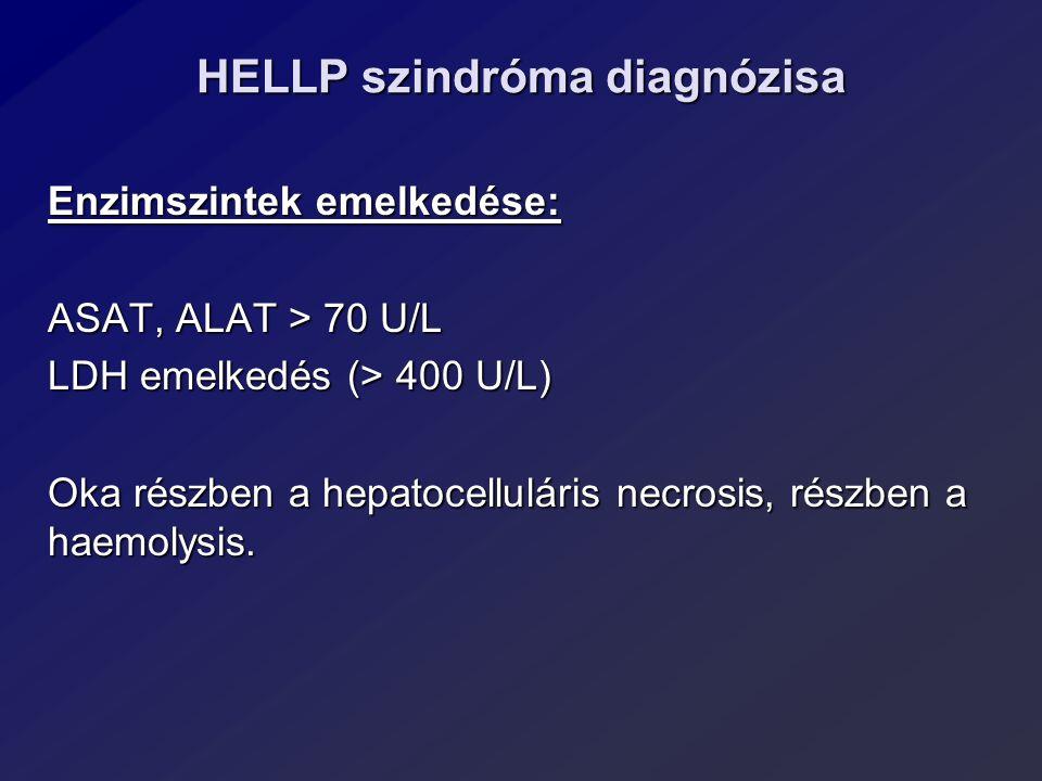 HELLP szindróma diagnózisa