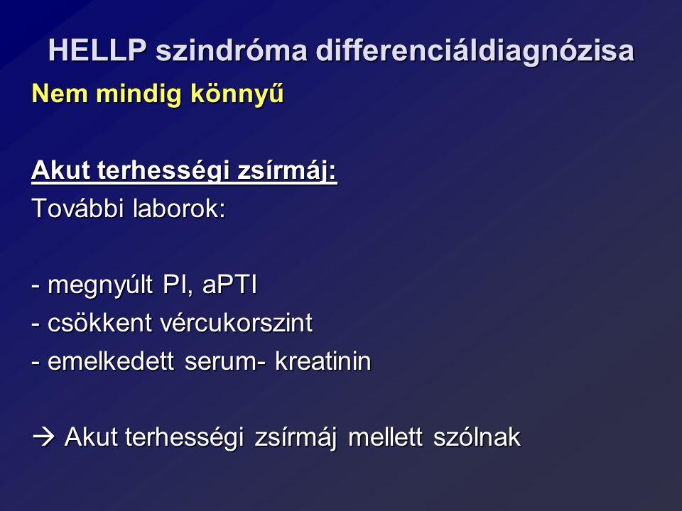 HELLP szindróma differenciáldiagnózisa