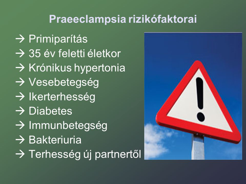 Praeeclampsia rizikófaktorai