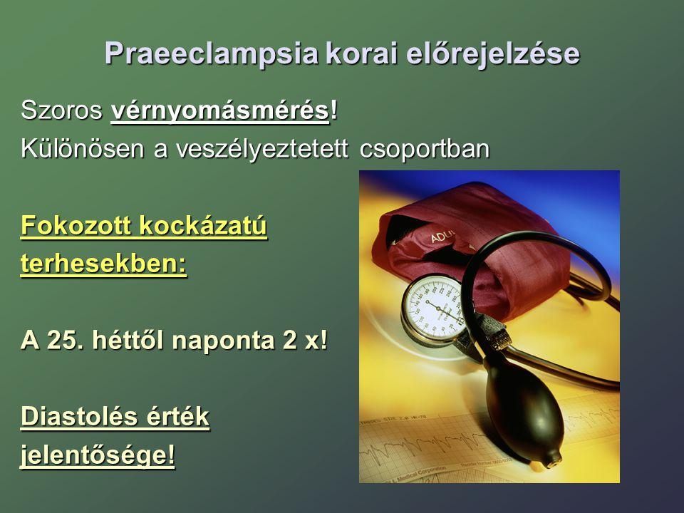 Praeeclampsia korai előrejelzése