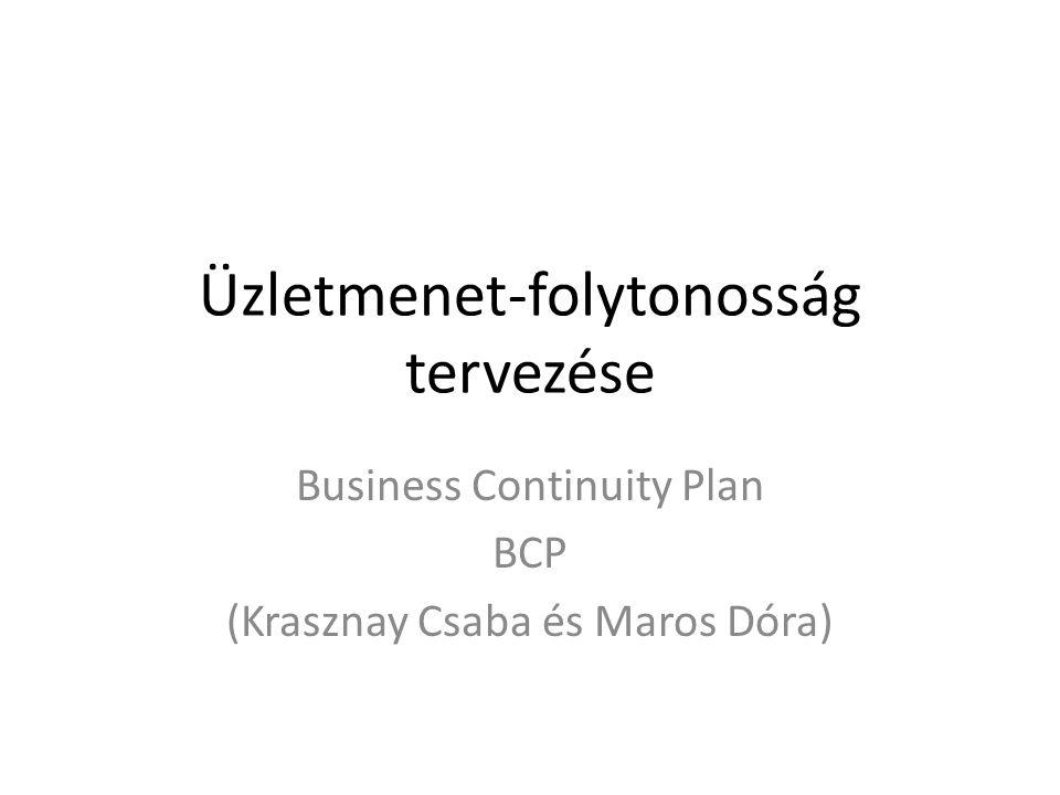 Üzletmenet-folytonosság tervezése
