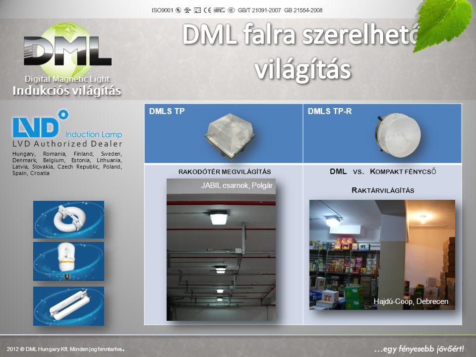DML falra szerelhető világítás