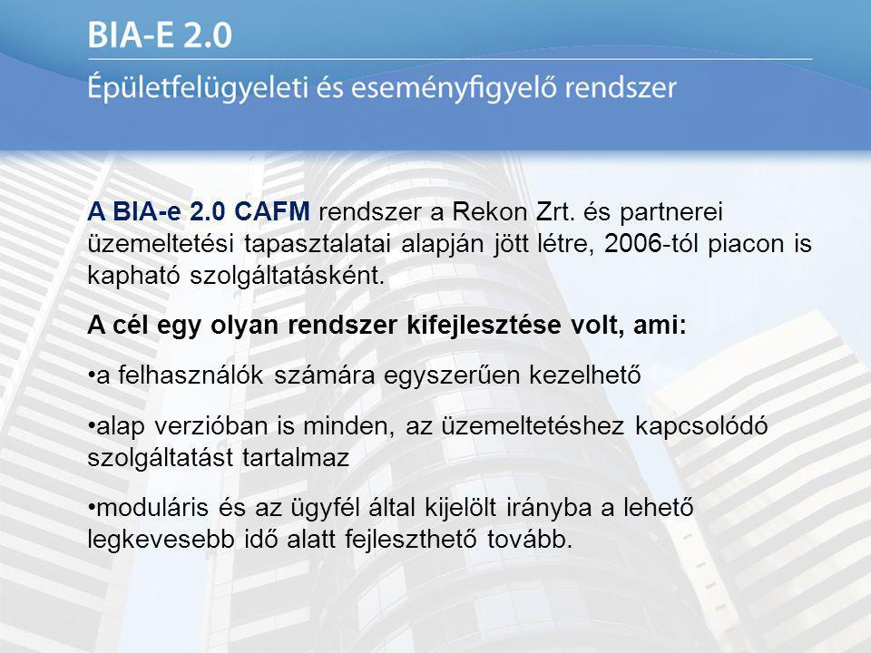 A BIA-e 2. 0 CAFM rendszer a Rekon Zrt