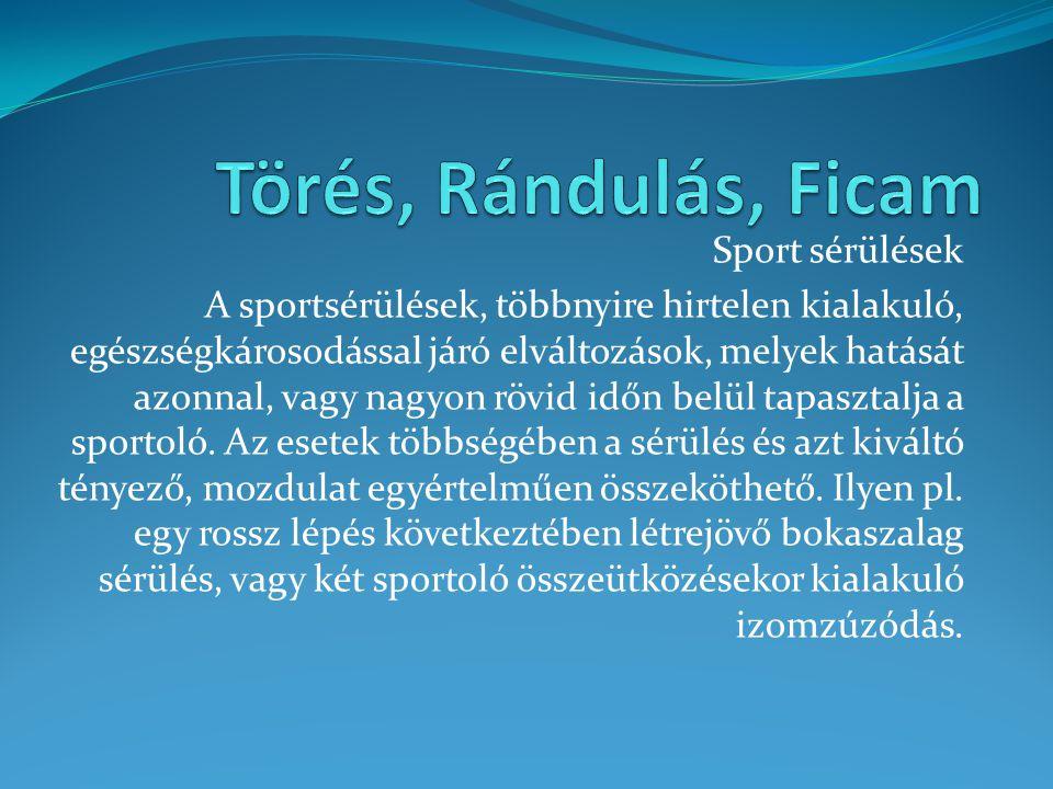 Törés, Rándulás, Ficam Sport sérülések