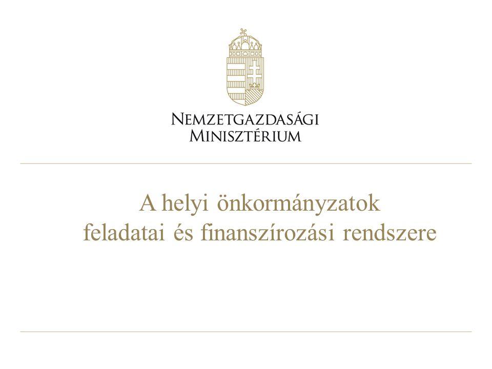A helyi önkormányzatok feladatai és finanszírozási rendszere