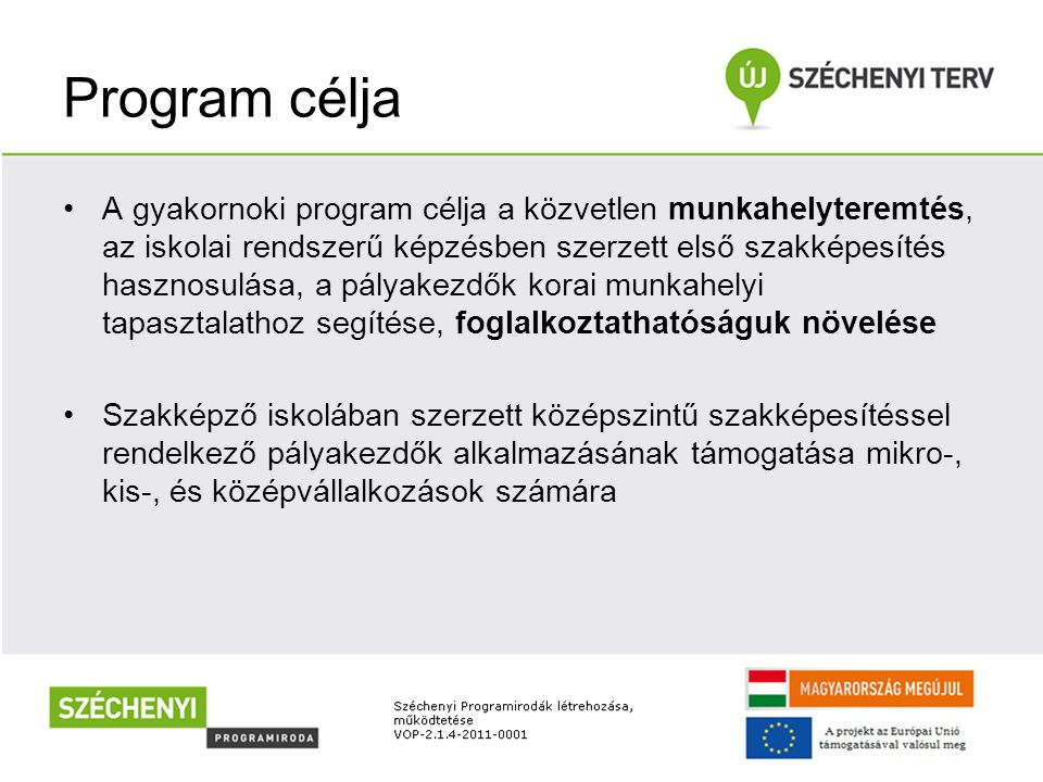 Program célja