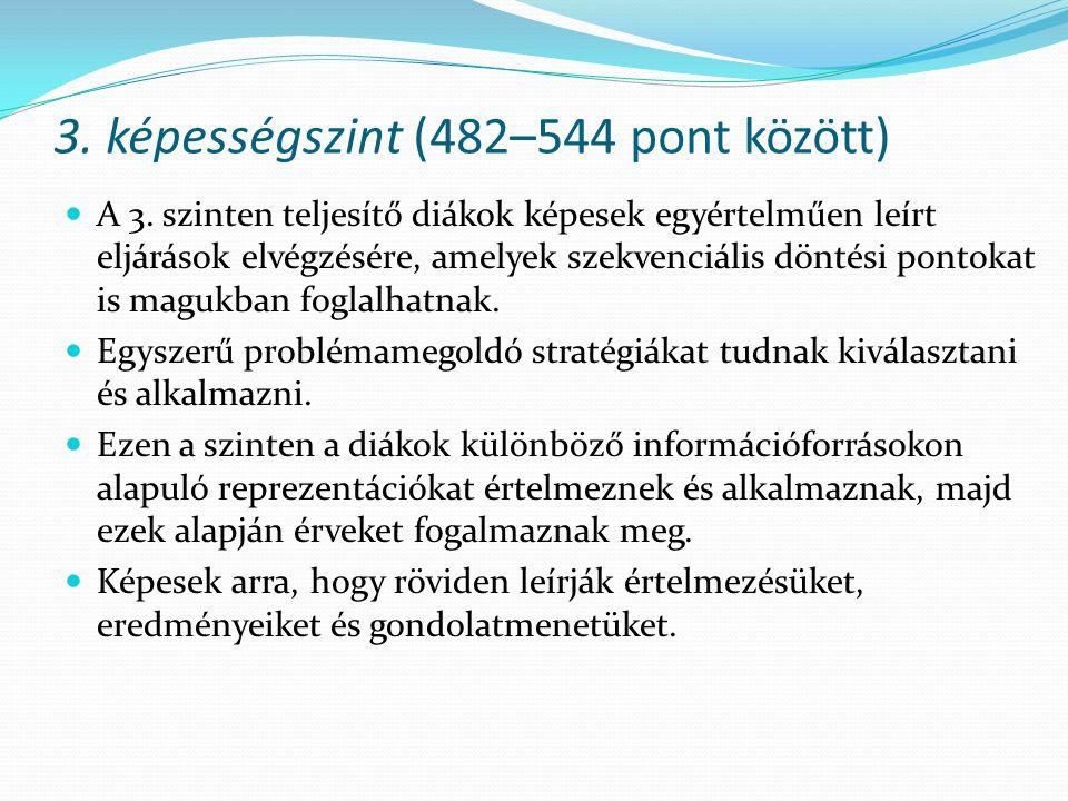 3. képességszint (482–544 pont között)