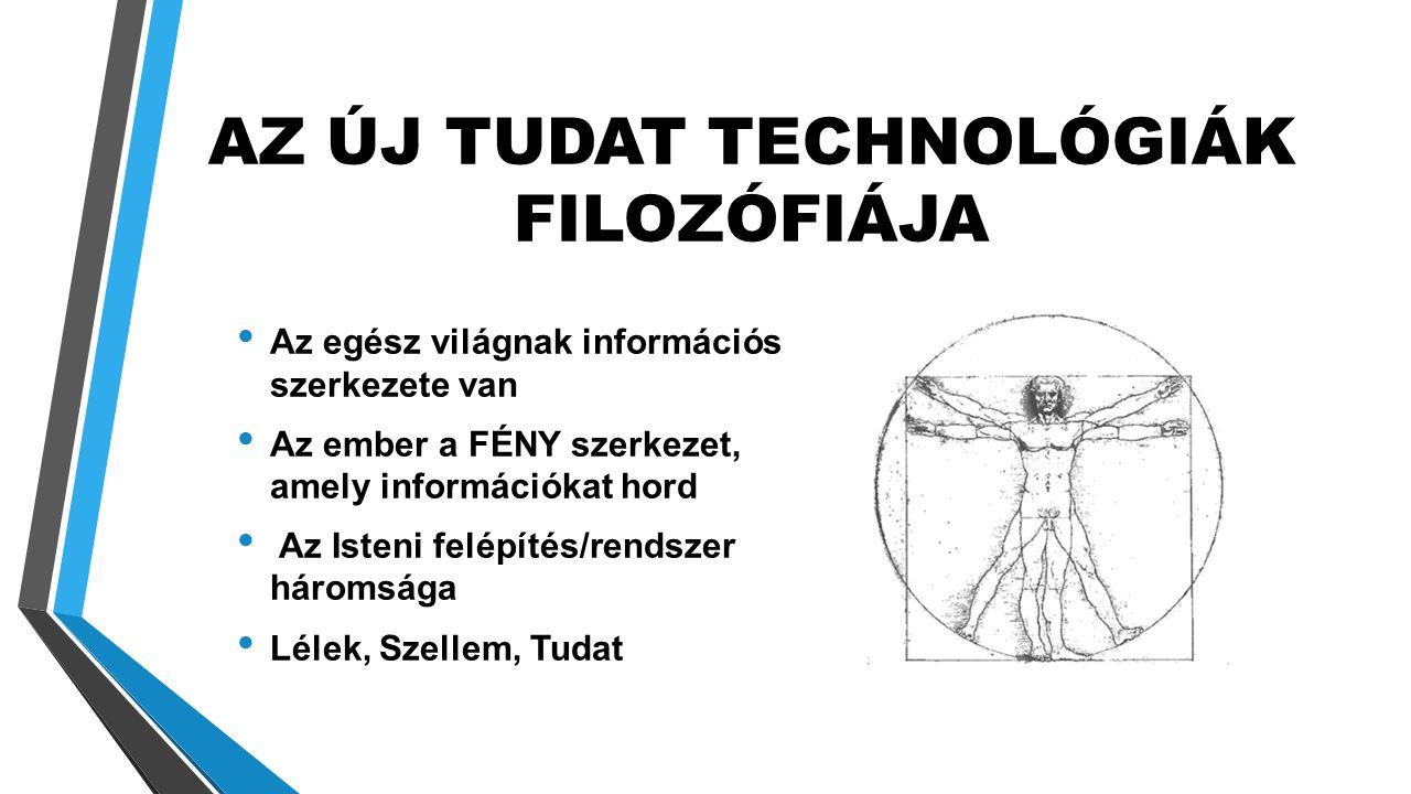 AZ ÚJ TUDAT TECHNOLÓGIÁK FILOZÓFIÁJA