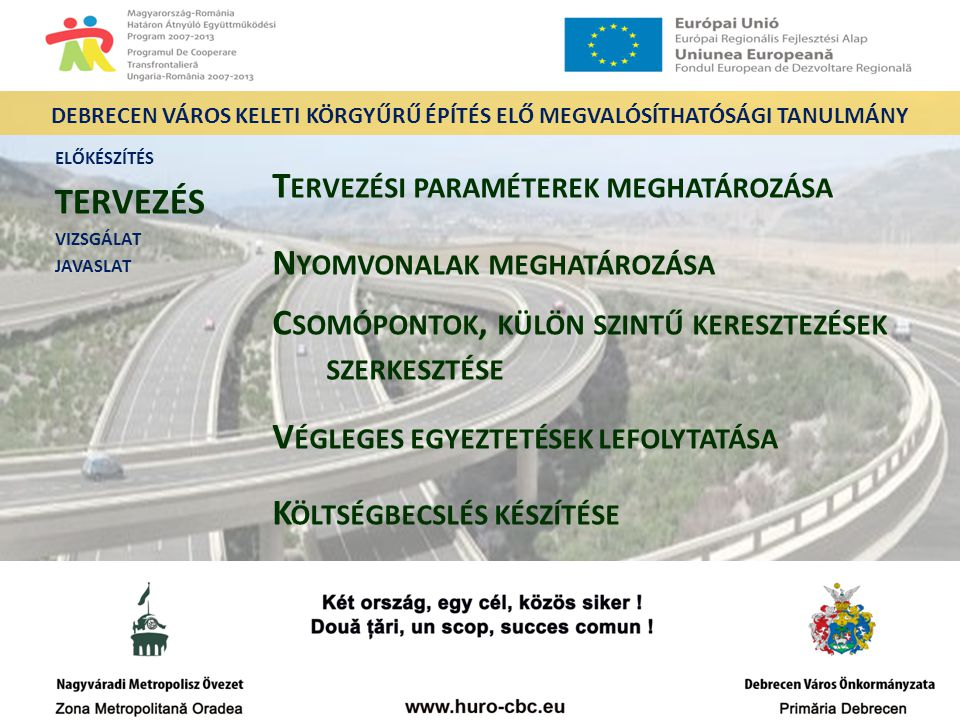 Debrecen város keleti körgyűrű építés elő Megvalósíthatósági Tanulmány