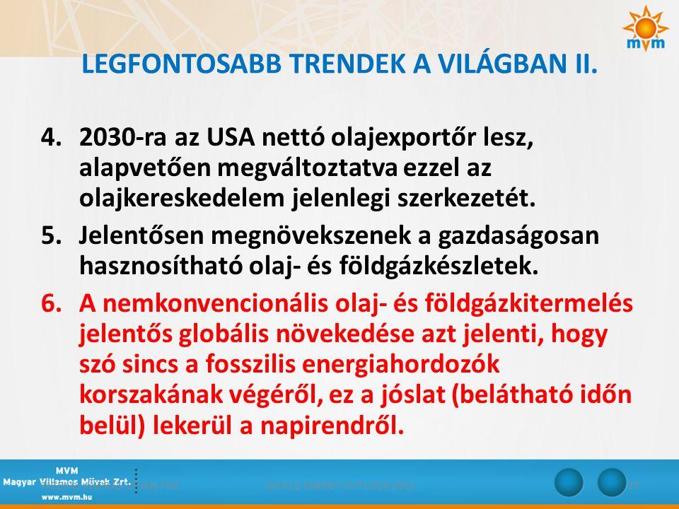 LEGFONTOSABB TRENDEK A VILÁGBAN II.