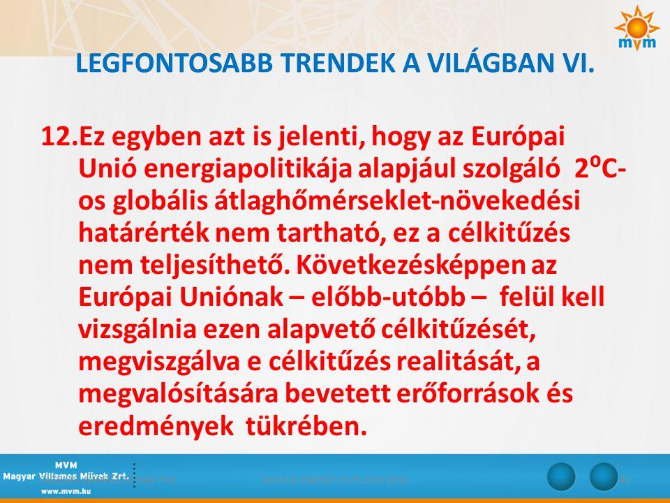 LEGFONTOSABB TRENDEK A VILÁGBAN VI.