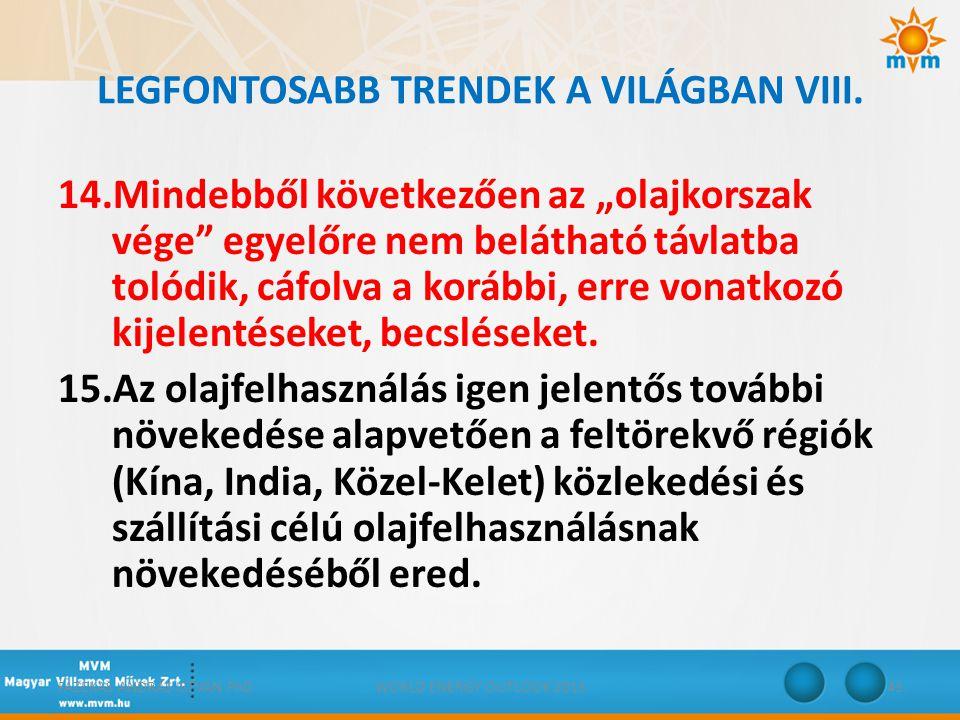 LEGFONTOSABB TRENDEK A VILÁGBAN VIII.