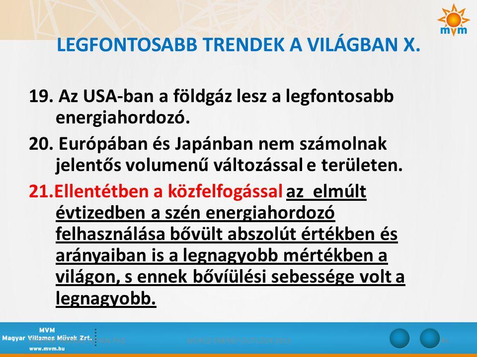 LEGFONTOSABB TRENDEK A VILÁGBAN X.