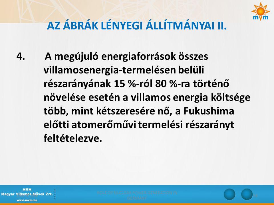 AZ ÁBRÁK LÉNYEGI ÁLLÍTMÁNYAI II.