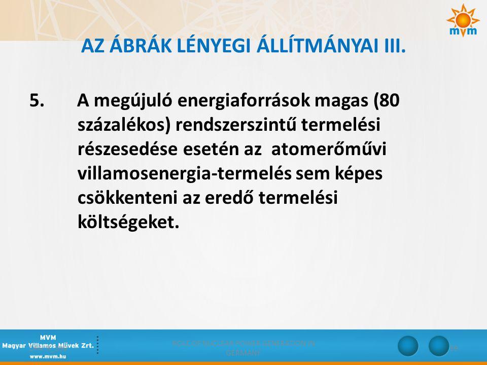 AZ ÁBRÁK LÉNYEGI ÁLLÍTMÁNYAI III.