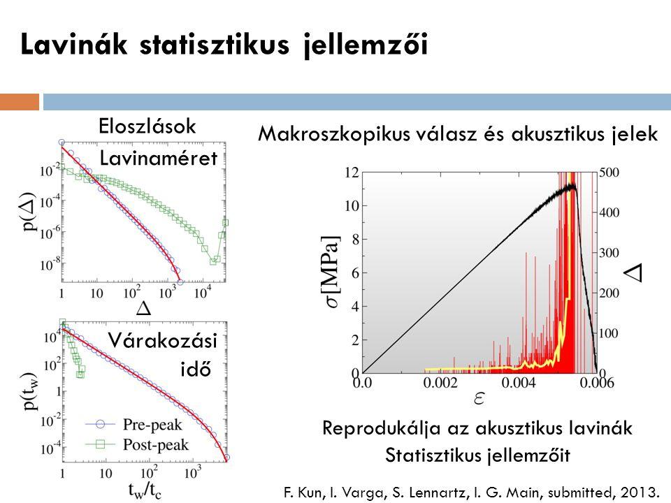 Lavinák statisztikus jellemzői