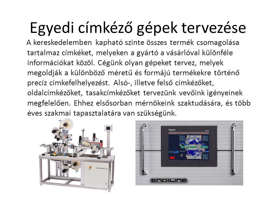 Egyedi címkéző gépek tervezése