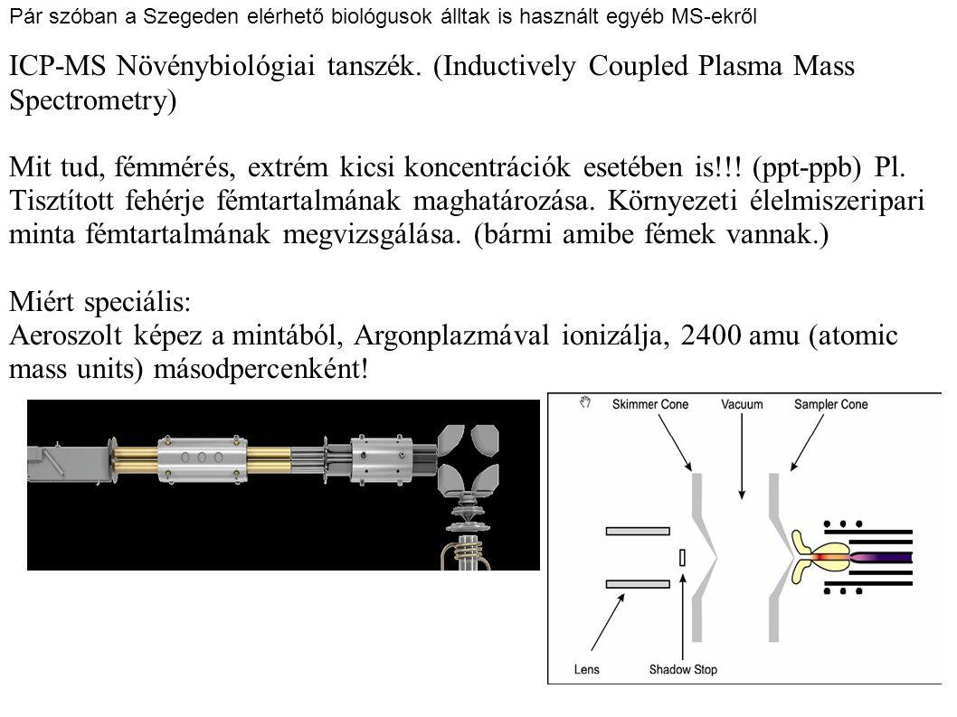 Pár szóban a Szegeden elérhető biológusok álltak is használt egyéb MS-ekről