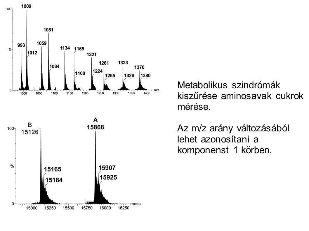Metabolikus szindrómák kiszűrése aminosavak cukrok mérése.