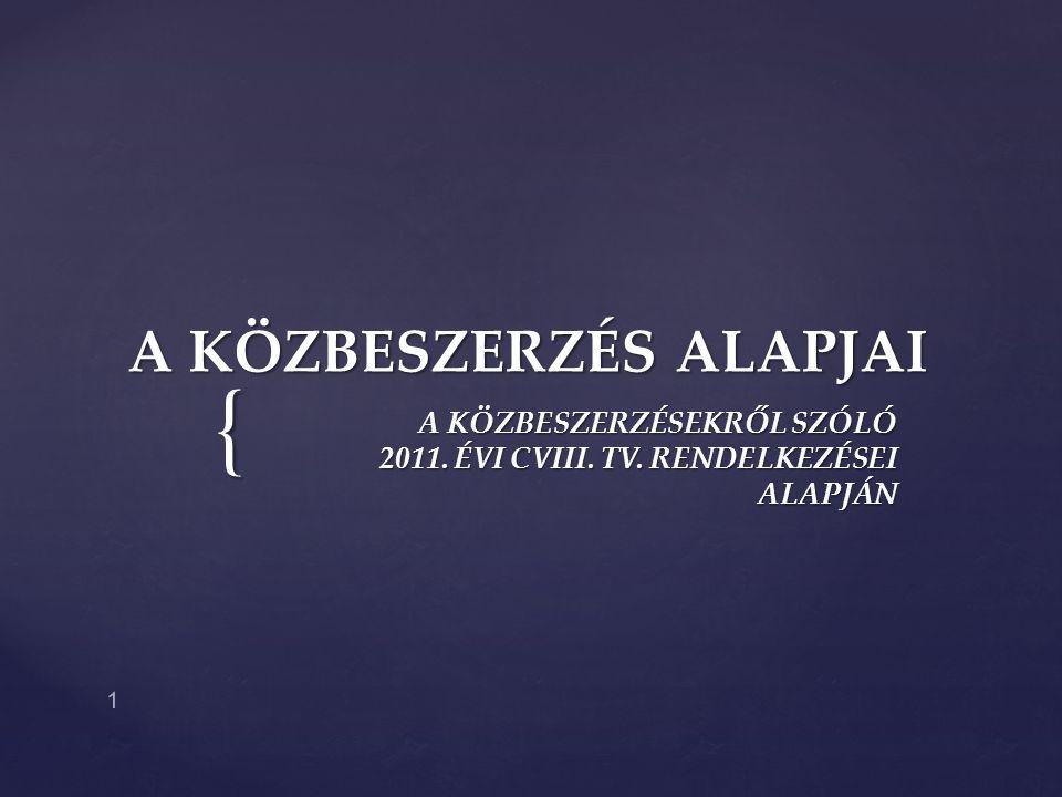 A KÖZBESZERZÉS ALAPJAI