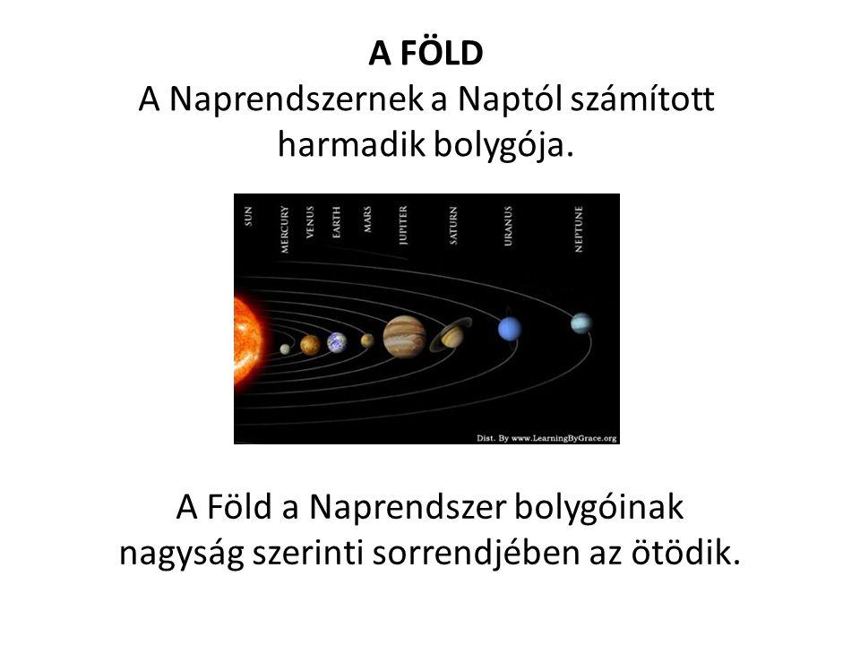 A Naprendszernek a Naptól számított harmadik bolygója.