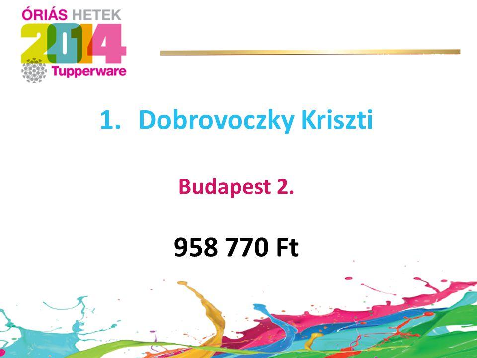 Dobrovoczky Kriszti 958 770 Ft