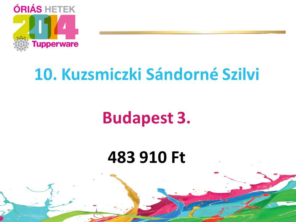 10. Kuzsmiczki Sándorné Szilvi
