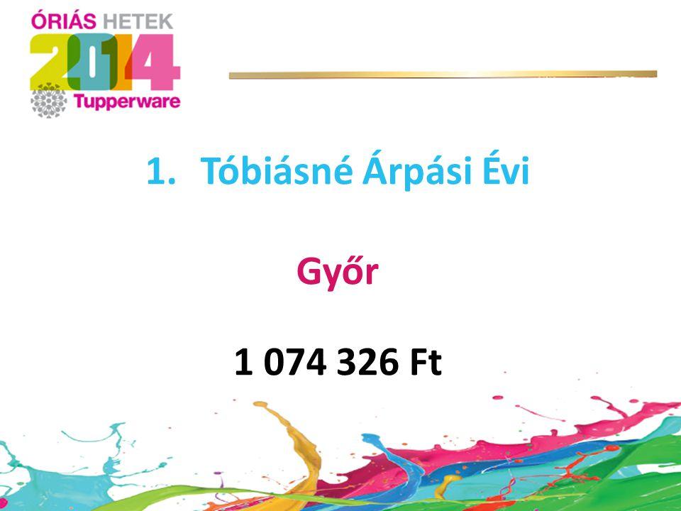 Tóbiásné Árpási Évi Győr 1 074 326 Ft