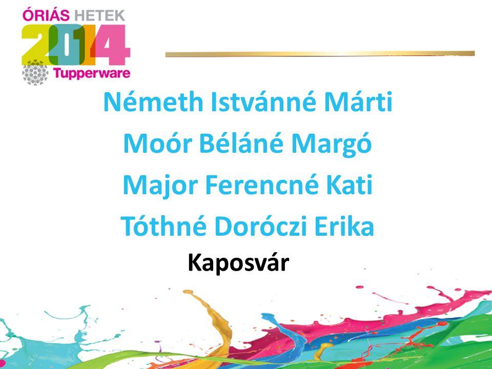 Németh Istvánné Márti Moór Béláné Margó Major Ferencné Kati