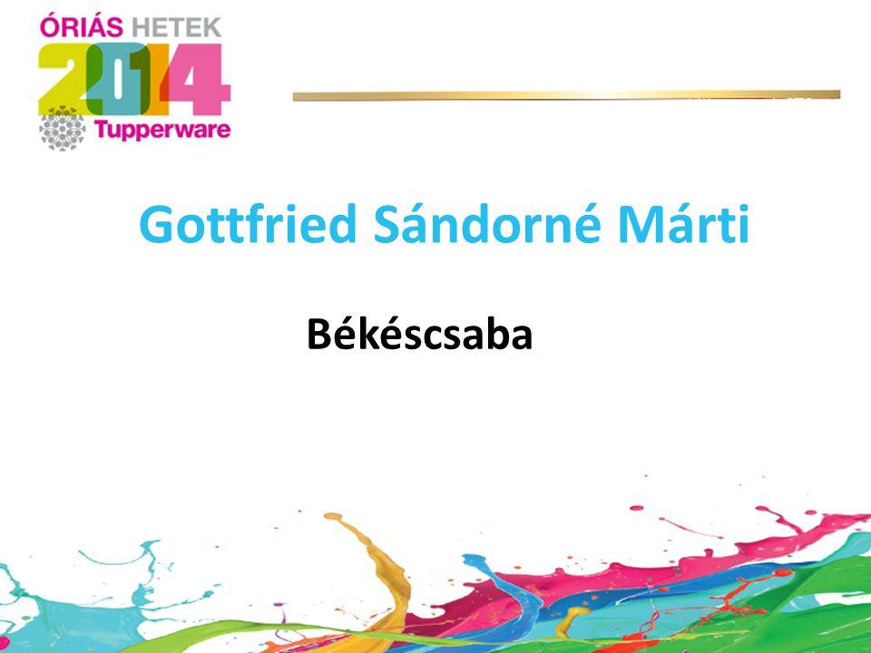 Gottfried Sándorné Márti