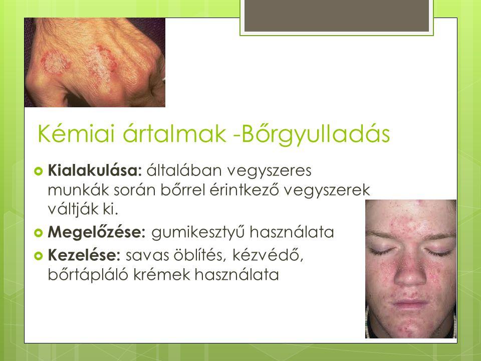 Kémiai ártalmak -Bőrgyulladás