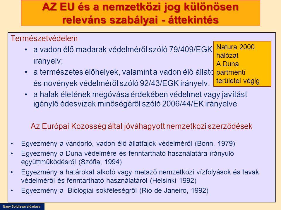 AZ EU és a nemzetközi jog különösen releváns szabályai - áttekintés
