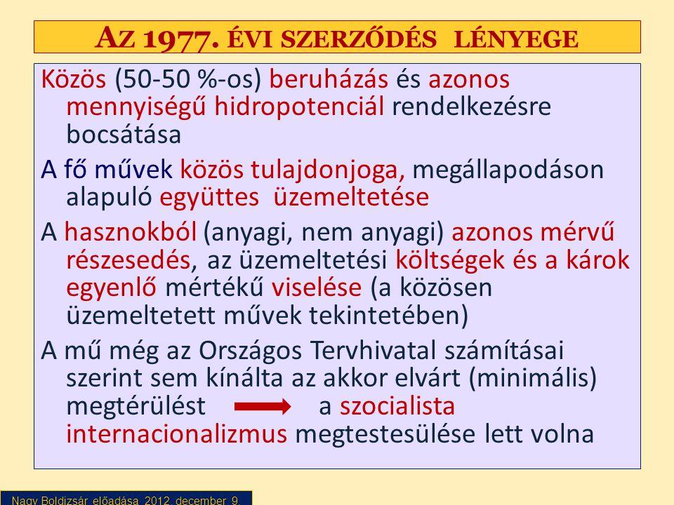 Az 1977. évi szerződés lényege
