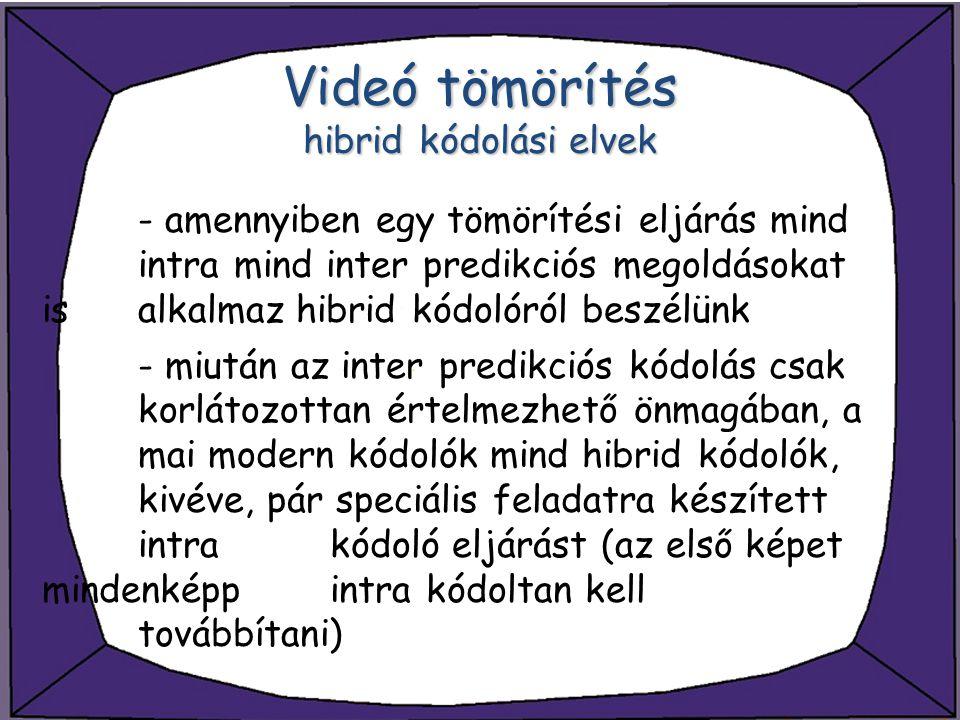 Videó tömörítés hibrid kódolási elvek
