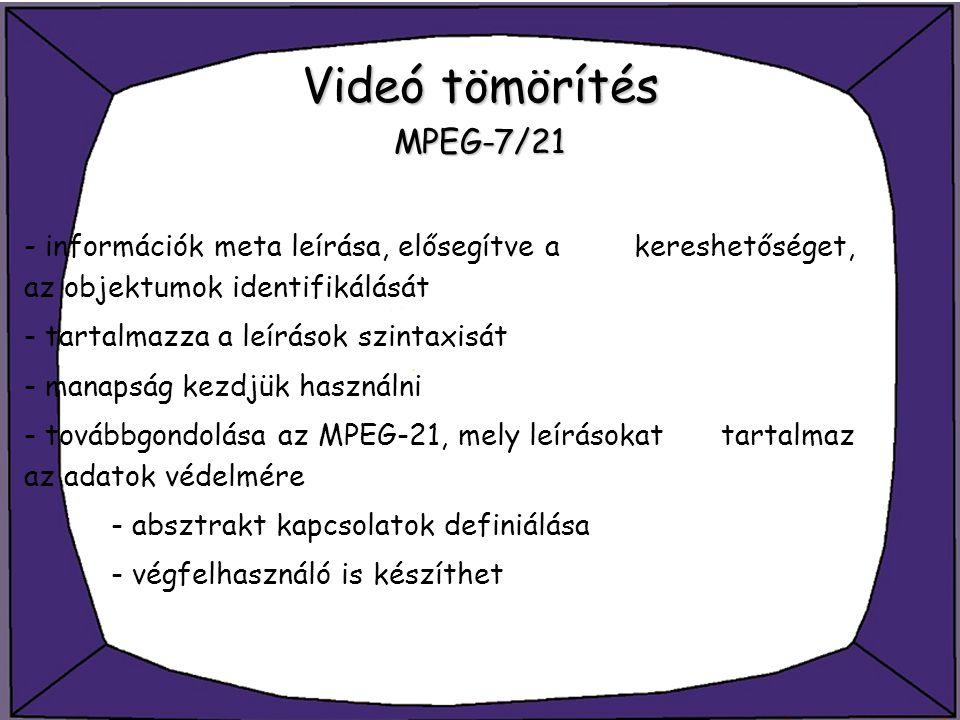 Videó tömörítés MPEG-7/21