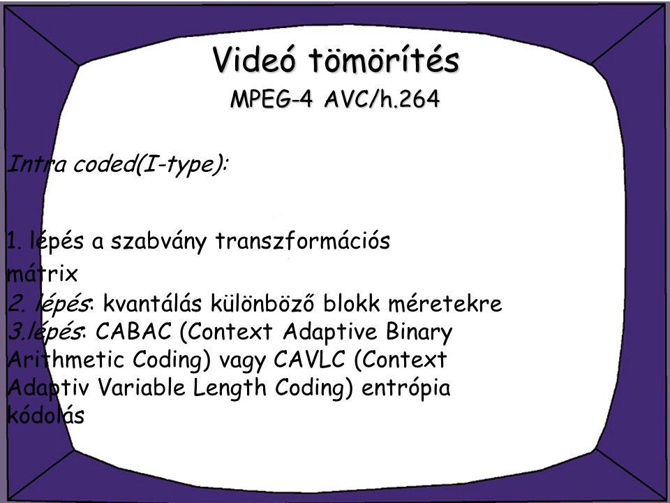Videó tömörítés MPEG-4 AVC/h.264
