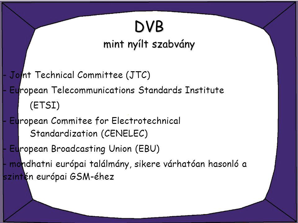 DVB mint nyílt szabvány
