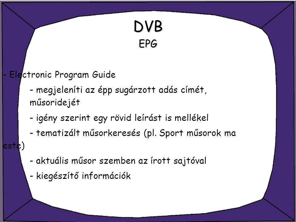 DVB EPG - Electronic Program Guide
