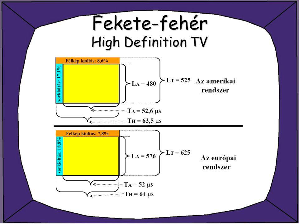 Fekete-fehér High Definition TV