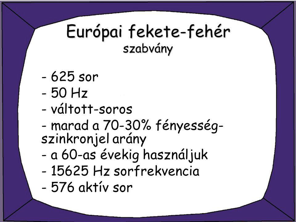Európai fekete-fehér szabvány
