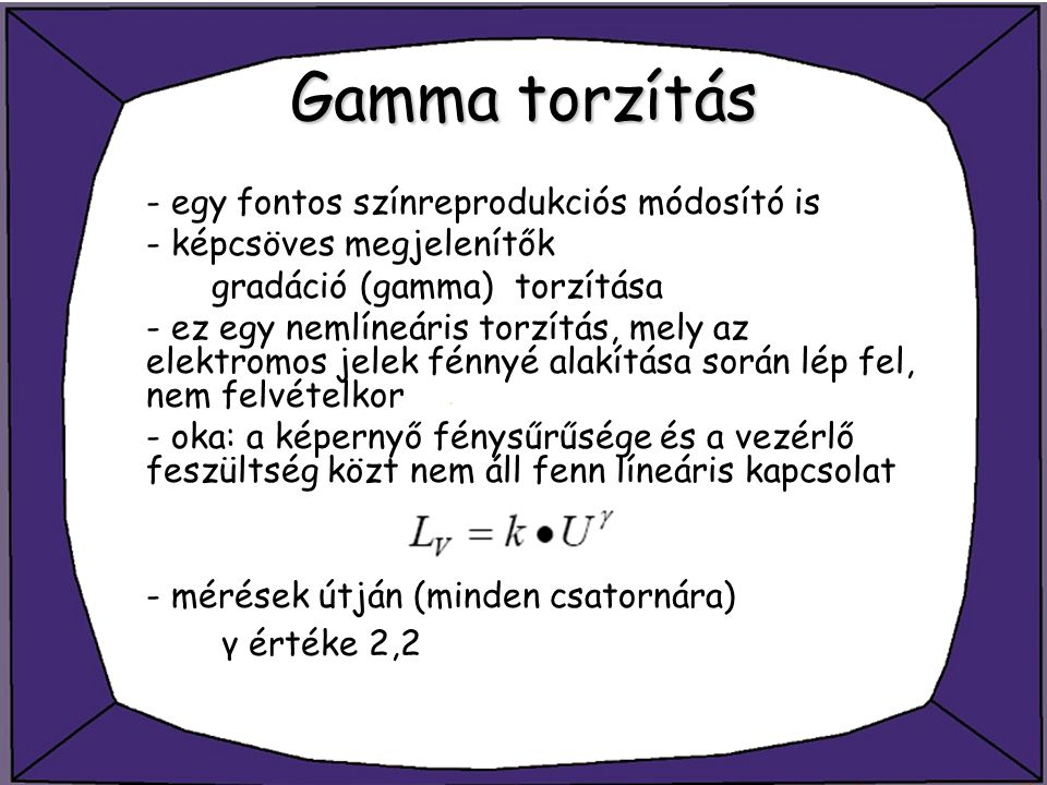Gamma torzítás - egy fontos színreprodukciós módosító is