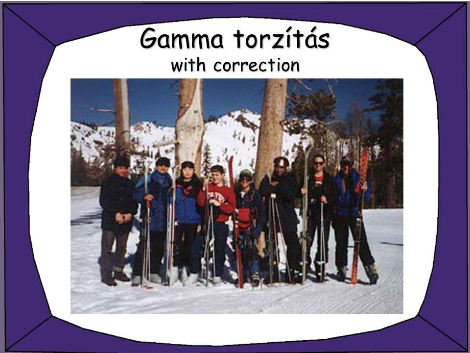Gamma torzítás with correction