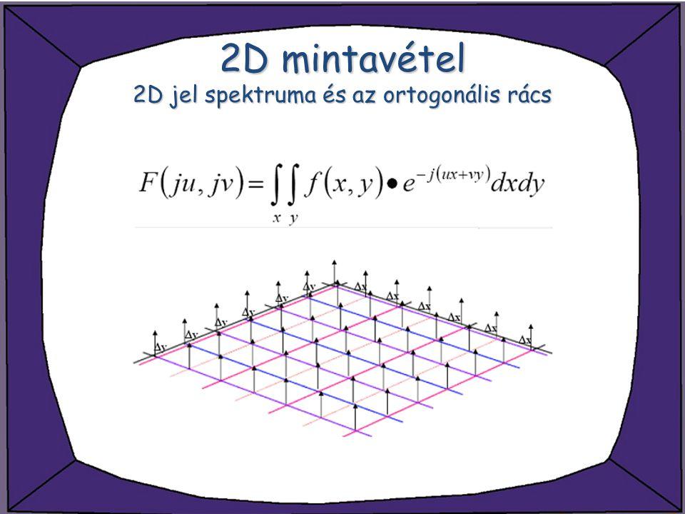 2D mintavétel 2D jel spektruma és az ortogonális rács