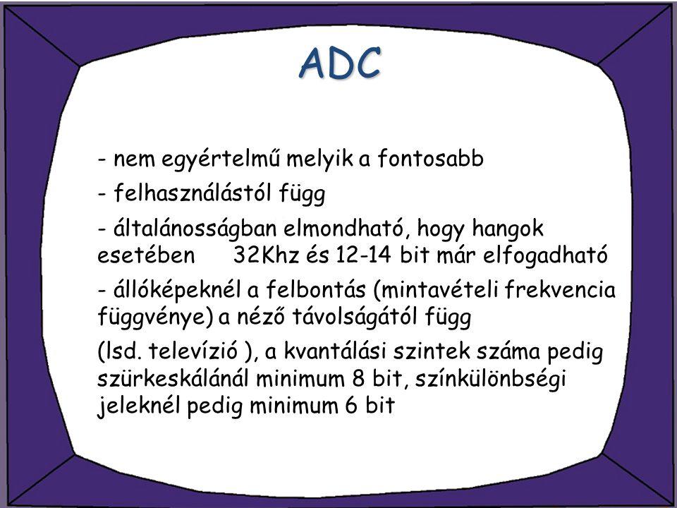 ADC - nem egyértelmű melyik a fontosabb - felhasználástól függ