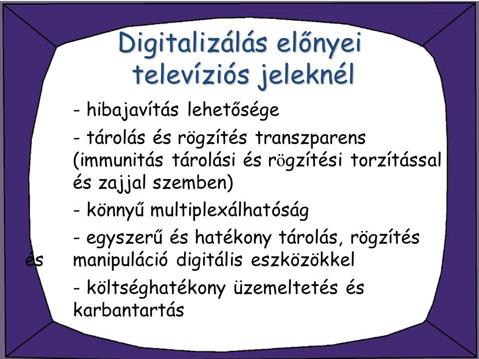 Digitalizálás előnyei televíziós jeleknél