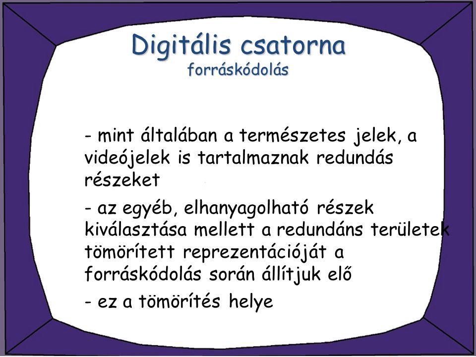 Digitális csatorna forráskódolás
